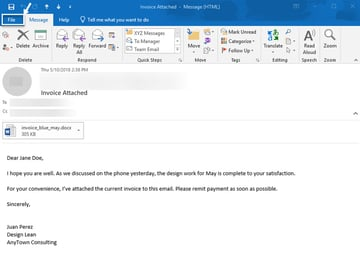 Outlook email to be backed up
