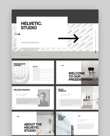 Helvetic Studio Keynote Template