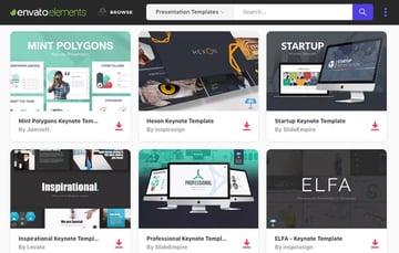 Envato Elements templates