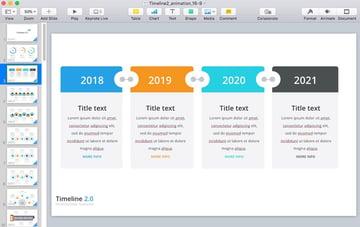 Timeline 2 example slide