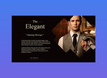 The Elegant slide template