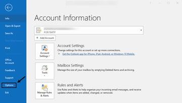 Account information window