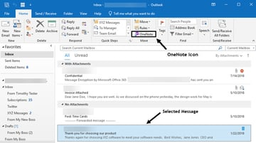 Select an email message