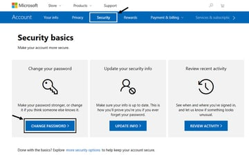 Microsoft account information