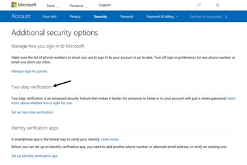 Additional security options window