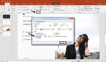 PowerPoint footnote annotation