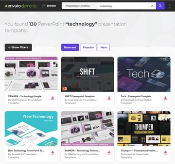 dozens of technology PowerPoint templates