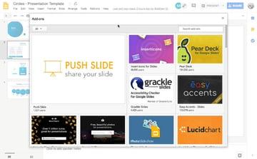 google slides add-ons options
