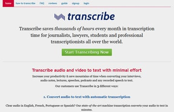Transcribe voice to text app