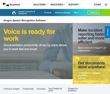 Dragon speech recognition software