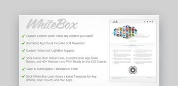 WhiteBox Landing Page App Template