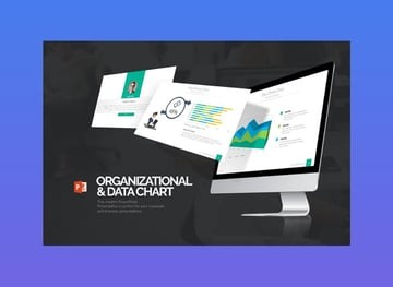 organizational and data chart PowerPoint process map template
