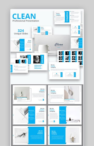 clean professional presentation template