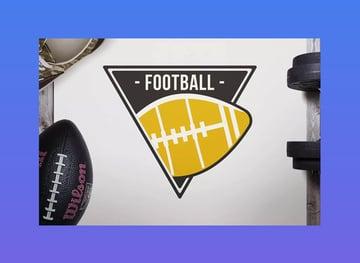 Retro American Football Logo