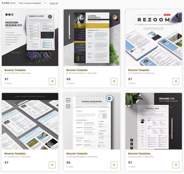 GraphicRiver Resume Templates