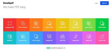 Smallpdf PDF software