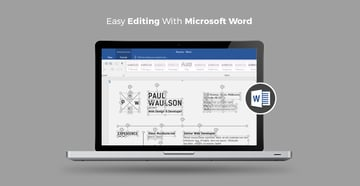 Resume Templates that are easy to edit in Microsoft Word