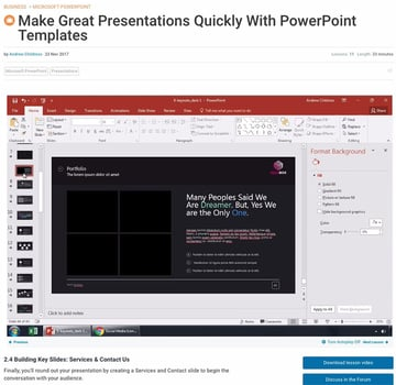 Course Example for PowerPoint