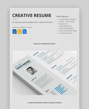 Creative Resume Sharp Visual Resume Template
