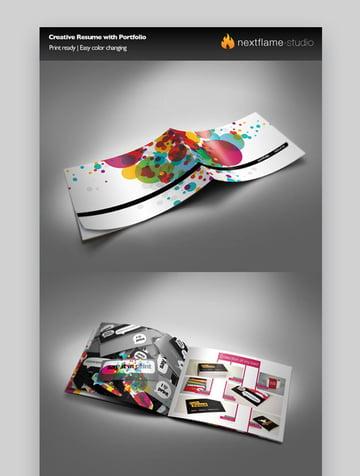 Creative Resume with Portfolio - Great Visual Artist Resume Template
