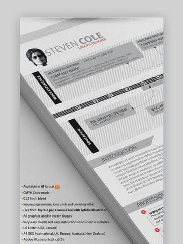 Creative Resume Advance - Modern Visual Resume with a Timeline