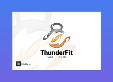 Thunder Fit Logo Template