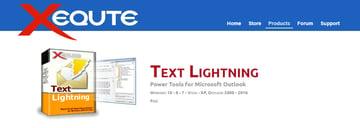 Xequte Text Lightning