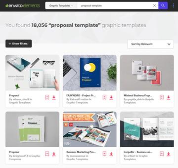 Business proposal templates on Envato Elements