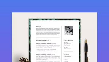 Photoshop template resume
