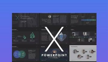 X-Note PowerPoint business organizational chart