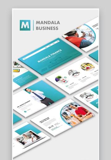 Mandala Business Finance PowerPoint Template