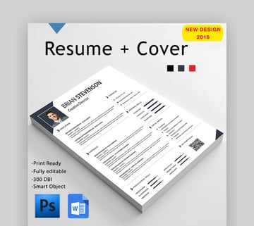 Simple Resume - Includes 3 Color Schemes