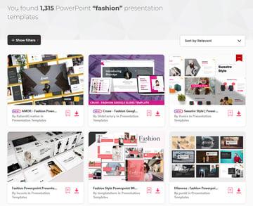 fashion marketing ppt presentations