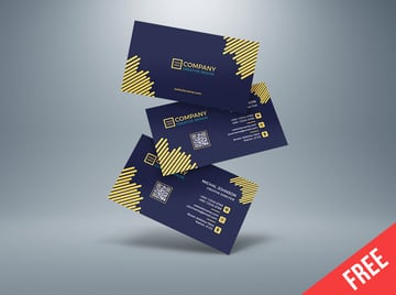Free Business Card Template for Adobe Illustrator