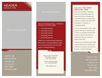 Free Word Trifold Template Autumn Colors