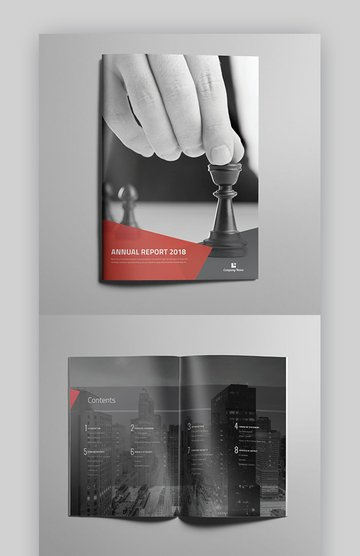 Annual Brochure - Professional MS Word Brochure Template