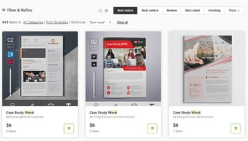 brochures for Microsoft Word on GraphicRiver