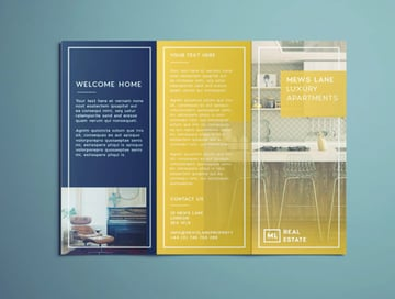 Stylish Tri-Fold Real Estate Brochure
