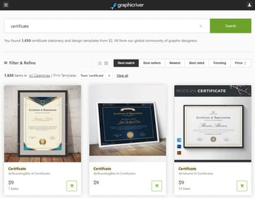 GraphicRiver Certificate Template Downloads