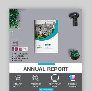 Creativesigne Powerful Annual Report Template