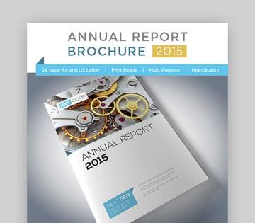 Contemporary Annual Report Brochure
