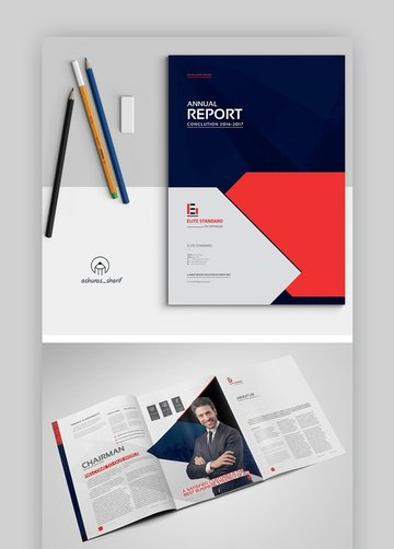 InDesign Annual Report Layout Template