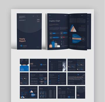 Dark Annual Report Design Layout