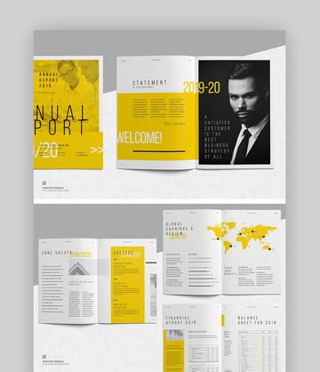 Stylish Annual Report Template Design