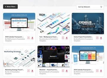 Envato Elements Agenda Slide Design Templates
