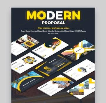 modern powerpoint proposal template