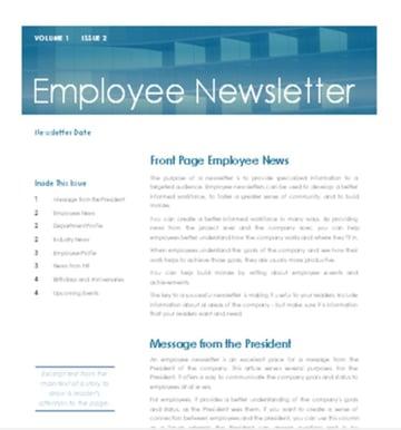 Employee Newsletter