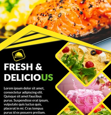 Free Printable Flyer Design Template Delicious moment Restaurant
