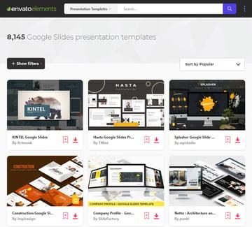 Envato Elements Cool Google SLides Presentation