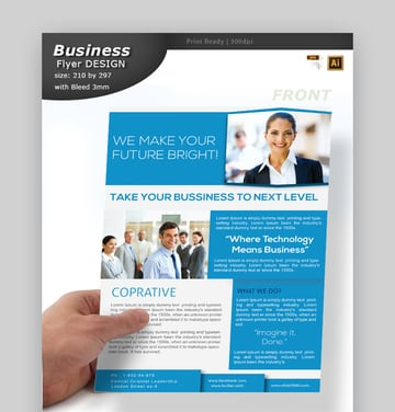 Informational Flyer Design - Professional Template